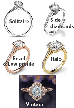 Engagement ring different types